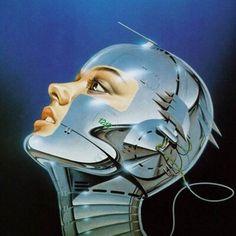 Retro Kunst, Retro Art, Arte Robot, Robot Art, Art Science Fiction, Arte Sci Fi, 70s Sci Fi Art, Arte Cyberpunk, Airbrush Art