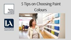 5 Tips on choosing Paint Colour Paint Finishes, Paint Colors, Colours, Interior Design, Tips, Youtube, Painting, Paint Colours, Nest Design