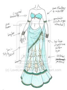 MHcd – Mehndi by on deviantART – Character Design Dress Drawing, Drawing Clothes, Dress Sketches, Drawing Sketches, Sketching, Fashion Design Drawings, Fashion Sketches, Arte Fashion, Fashion Fashion