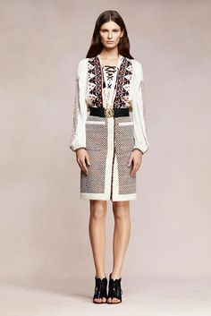 The Top Trends of the Resort 2013 Shows Altuzarra Nouveau Boho Runway Fashion, Spring Fashion, Fashion Show, Fashion Design, Fashion 2014, Fashion Details, High Fashion, Folk Fashion, Ethnic Fashion