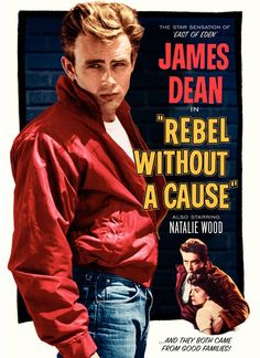James Dean in Rebel Without a Cause, Natalie Wood, film, movie. Old Movie Posters, Classic Movie Posters, Cinema Posters, Classic Films, Film Posters, Vintage Posters, Art Posters, Poster Prints, Illustrations Posters
