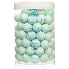 Cuccio Naturale Sea Fizz Sanitizing Soak Sanitizes and whitens nails, softens and conditions cuticles and skin and replenishes moisture. Sea Fizz effervescent manicure soak marbles are loaded with nat