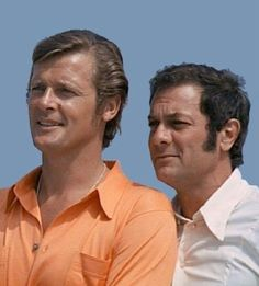 Tony Curtis, Roger Moore in The Persuaders