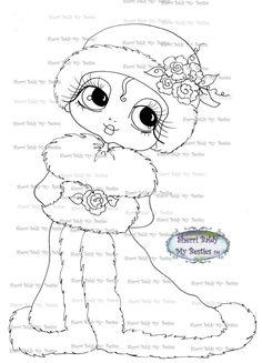 INSTANT DOWMLOAD Digital Digi Stamps Big Eye Big Head Dolls Digi  My Besties IMG063 By Sherri Baldy