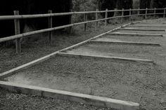 Diagonal - Aparcamientos de madera.