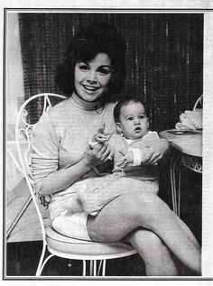 "greglfan: ""Annette and baby daughter, Gina. """