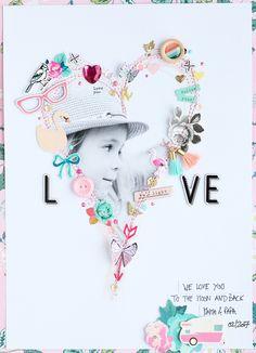 Steffi Ried - Layout *Love* nach dem Sketch von Heidi #scrapbookwerkstatt #cratepaper #sbwsketch #scrapbooking