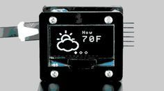 Want to install a cool little digital weather display in your house but don't want to spend much money? Over on Adafruit, they show you how to build one using a few cheap components.