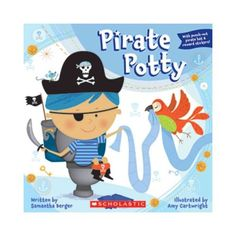 Pirate Potty #ad PIRATE POTTY A pirate-themed, toilet-training 8x8 that is fit for the littleswashbuckler in your life  Every pirate needs his captain's chair and this 8x8 with a perfed captain's hat and reward stickers is perfect for the little pirate learning to use the potty for the first time  With a helpful, step-by-step story that introduces boys to the concept of toilet training, Pirate Potty is an adventurous lesson that everyone needs to learn.
