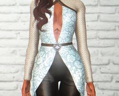 A top heavily inspired by Vivienne from Dragon Age Inquisition.