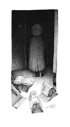 The Girl in the Corridor by spowys.deviantart.com on @deviantART