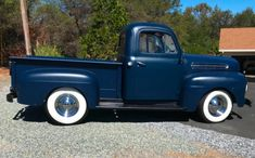 1951 Ford F-1 Pickup for sale on BaT Auctions - closed on September 26, 2018 (Lot #12,680) | Bring a Trailer Pickups For Sale, Shop Truck, Leaf Spring, Classic Cars Online, F 1, Cool Trucks, Pick Up, Midnight Blue, Antique Cars