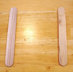 popsicle stick love craft step 1