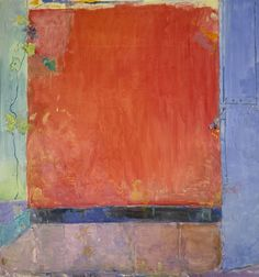 PIERRE LESIEUR, Mur rouge au volet bleu, 2000, 179x170