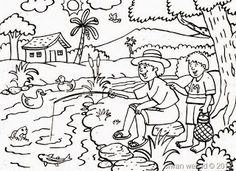 KUMPULAN GAMBAR HITAM PUTIH [BW] UNTUK DIWARNAI | freewaremini Family Coloring Pages, Summer Coloring Pages, Dog Coloring Page, Christmas Coloring Pages, Animal Coloring Pages, Colouring Pages, Coloring Books, Art Drawings For Kids, Drawing For Kids