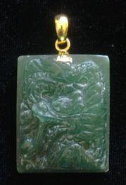 Dragon Jade Origin: Birma, cut Viet Nam 28 x 36 mm - www.kn-jewellery.com