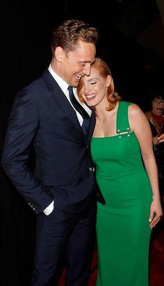 Jessica Chastain and Tom Hiddleston attend Crimson Peak New York Premiere at AMC Loews Lincoln Square on October 14, 2015 in New York City 14. Full size image: http://ww1.sinaimg.cn/large/6e14d388jw1ex1mqa3zltj21kw2acqob.jpg Source: Torrilla, Weibo