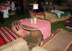 """This Auction Fundraiser """"Jamboree Roundup"""" was held by Carden Academy, an independent school in Maui. The decorations were rustic and elegant with white string Party Sparklers, Fundraiser Party, Wild West Party, White String Lights, Fun Party Themes, Western Parties, Independent School, 2017 Ideas, Hay Bales"""