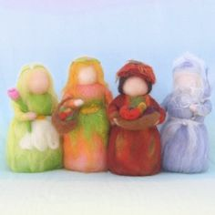seasonal wool dolls