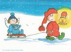 Button Nose, Christmas Cards, Xmas, Winter Art, Whimsical Art, Gnomes, Finland, Martini, Illustrators