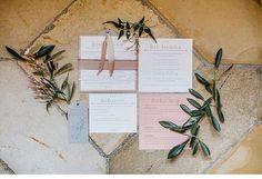 #Hochzeitspapeterie in rosa, grau und weiß