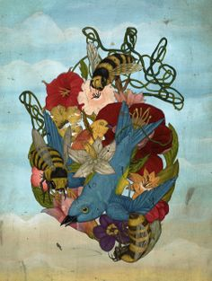 The fantastic work of Jason Holley (I added the superlatives) - Hearts, flowers, birds, and bees.  Jason Holley