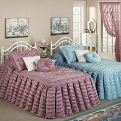 Lamont Home Jessica Chenille Bedspread Mint/ Chocolate