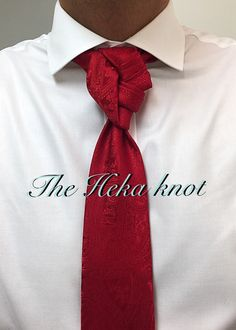Knot by Boris Mocka Cool Tie Knots, Cool Ties, Knotty Tie, Tie A Necktie, Woodworking Shop Layout, Work Wardrobe, Fashion Outfits, Fashion Tips, Menswear