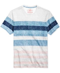 American Rag Men's Textured Stripe T-Shirt, Created for Macy's - Gray Gap Outfits, Macy Gray, American Rag, Sport T Shirt, Shirt Designs, Men Casual, Menswear, Stripes, Mens Fashion