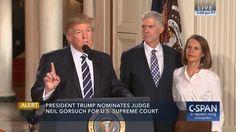 Donald Trump - Neil Gorsuch - President Trump