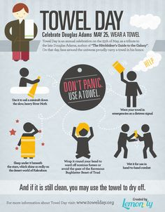 Happy Towel Day! #towelday #towelday2017 #infographic by @lemonly