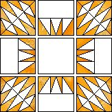Churning Sun paper piecing quilt pattern