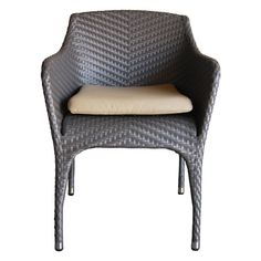 100 Essentials Rivage Wicker Patio Dining Armchair - 8006245