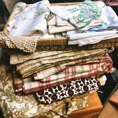 Stacks and stacks of material perfect for any project! Available now in our Moorland road charity shop.