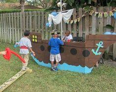 Resultado de imagen para como hacer el barco de jake en carton