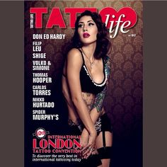 The new Tattoo Life Magazine is out in Europe. This issue is entirely devoted to the 10th Anniversary of @londontattooconvention Interviews with Ed Hardy, Filip Leu, @shige_yellowblaze, Volko & Simone, @thomas_hooper_tattooing, @carlostorresart, @nikkohurtado, @spidermurphystattoo Cover model @kdalbeck Ph @chrisepperson  #tattoolife #tattooenergy #tattoospecial #tattoocollection #tattoolifegallery #tattoolifemap #tattoolifemagazine #filipleu