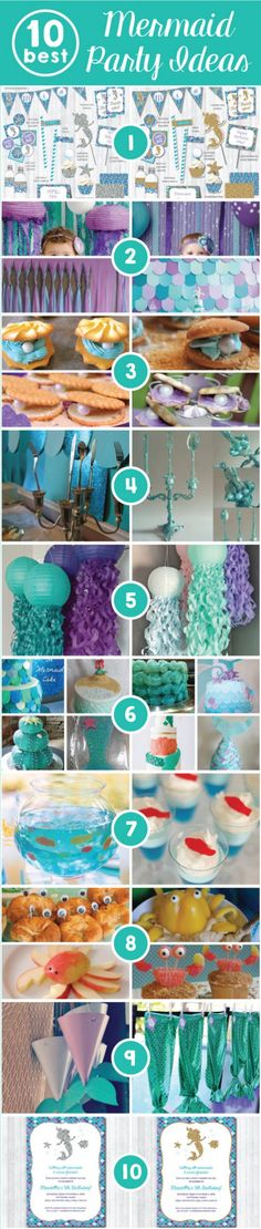 Mermaid party ideas 34