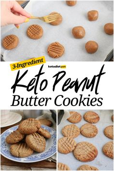 Peanut Butter Cookies Recipe - With only 3 ingredients these delicious, keto peanut butter cookies are packed with good nutrients that will boost your energy levels and help you start the day right.