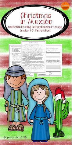 This Christmas in Mexico reading comprehension passage for grades 1-3 can be used in your class to help your students with reading comprehension skills as well as with test taking skills.   Please take a preview peek!   Included: An engaging passage with 4 multiple choice questions and 2 written responses.