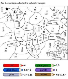 coloring pages for kids free printable numbers preschool worksheets Preschool Number Worksheets, Math Coloring Worksheets, Addition Worksheets, Numbers Preschool, Preschool Math, Worksheets For Kids, Kindergarten Worksheets, Math Activities, Subtraction Worksheets