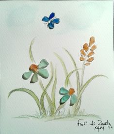 Flowers by sea glasses (Hara)