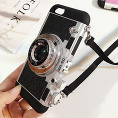 Vintage camera iPhone case with removable cross-body strap. – Ultra slim fit & e… Vintage camera iPhone case with removable cross-body strap. – Ultra slim fit & easy snap on – Protects the back, sides & all corners – Direct access to all ports & features Diy Iphone Case, Cool Iphone Cases, Cool Cases, Cute Phone Cases, Iphone Phone Cases, Iphone 5c, Apple Iphone, Amazing Phone Cases, Phone Covers