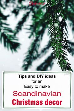 All you need to know to set up a beautiful Scandinavian Christmas decor. Find out the 5 simple tips and start decorating for the holidays. Complete your Nordic decor with some of these 15 easy DIY ideas inspired by Swedish and Norwegian ornaments. Have fun crafting a modern Christmas. #diy #crafts #Scandinavian #Christmas