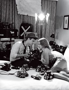 Matthew Gray Gubler gazing tenderly at Natalia Vodianova in US Vouge.