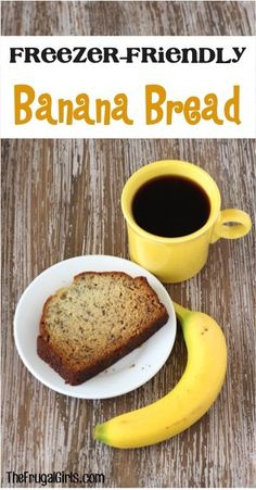 Freezer Friendly Breakfast Banana Bread Recipe! ~ from TheFrugalGirls.com - stock your freezer with delicious, moist Banana Bread, and thaw a slice at a time, or the entire loaf! #recipes #thefrugalgirls