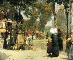 Frederick Childe Hassam - Paris Street Scene