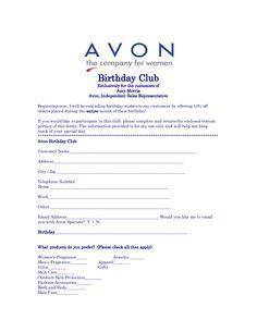 Avon Birthday Club - get 10% off any order the entire month of your birthday! www.youravon.com/rpestar