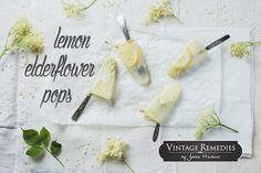 Lemon Elderflower Pops