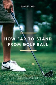 How far to stand from golf ball with irons or driver? Check the post and learn how to take correct distance every time on the tee box or the course. #golf #golfing #golftips