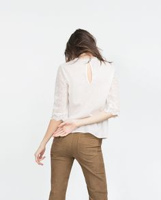 LACE TOP - Blouses - Tops - WOMAN | ZARA United States